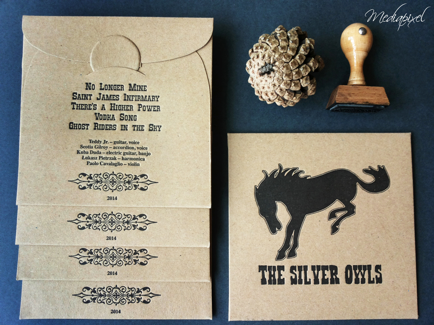 koperta eko-druk letterpress-the silver owls