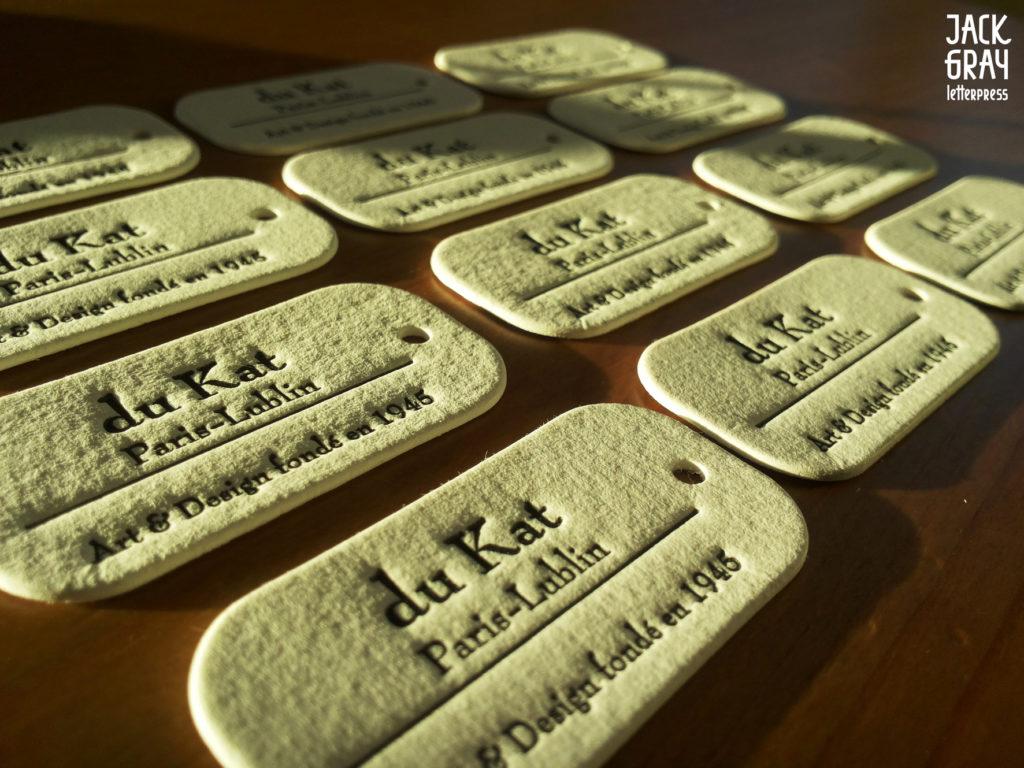 metki jubilerskie, druk tloczony, letterpress krakow, jack gray letterpress